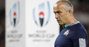 Italy's Conor O'Shea says South Africa may be the most powerful rugby team he's ever seen. Photo: Adrian Dennis/ Getty Images