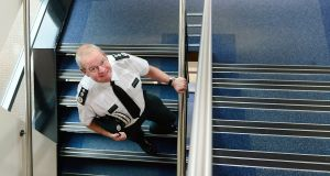 Chief Constable Simon Byrne at Policing Board headquarters, Belfast. 'I have absolute awe for what people do... every day having to check underneath their car, having to check their route to work.' Photograph: Arthur Allison/Pacemaker Press