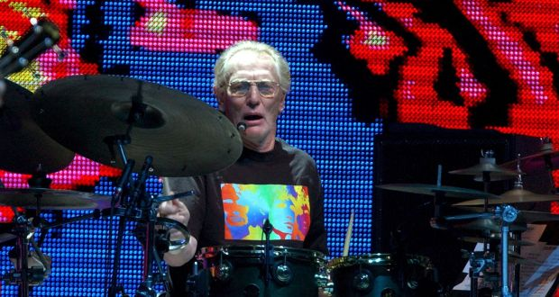 Ginger Baker performs during a reunion of Cream, at Madison Square Garden in New York in 2005. Photograph: Steve Pope/EPA
