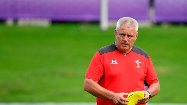 Victory over Fiji will see Warren Gatland's Wales qualify for the quarter-finals. Photgraph: Filippo Monteforte/AFP/Getty