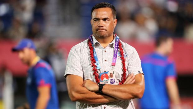 Samoa coach Steve Jackson said he was 'bewildered by some of Jaco Peyper's decisions during his side's defeat to Japan. Photograph: Stu Forster/Getty