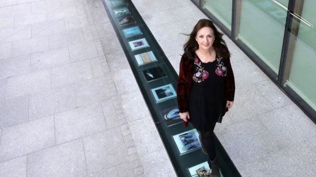 Moya Brennan pictured on the new Vinyl Walkway outside Windmill Lane in Dublin. Photograph: Laura Hutton/The Irish Times