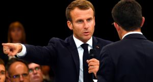 France's president Emmanuel Macron: believes the far right must not be allowed to continue to monopolise the immigration issue. Photograph: Eric Cabanis/AFP via Getty Images