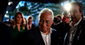 Prime minister António Costa  in Lisbon on October 6th during the Portuguese general election.  Photograph: AFP via Getty Images
