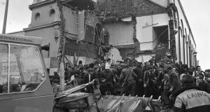 A file image showing the aftermath of the Shankill Road bombing on December 13th, 1971. Photograph: The Irish Times