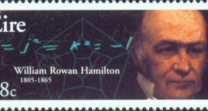 Stamp featuring William Rowan Hamilton,  an innovative mathematician and physicist of the highest order