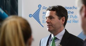 Minister for Finance Paschal Donohoe said a review of the Civil Service would 'consider the location of support offices and services to ensure consistency' with the goals of the Government's national development plan.