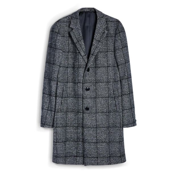 Check coat, €55, Penneys