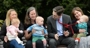 Minister for Health Simon Harris at the launch of HSE National Breastfeeding Week. Photograph: Dara Mac Dónaill