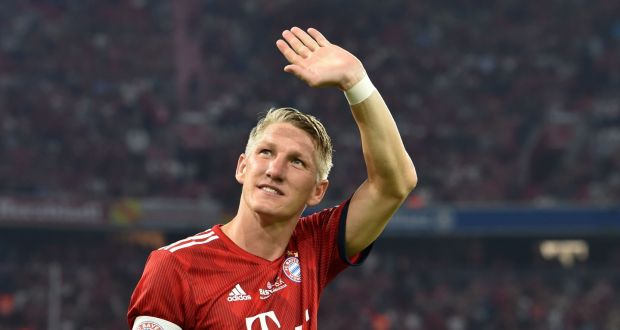 Former Bayern Munich midfielder Bastian Schweinsteiger has announced his retirement. Photograph: Getty Images