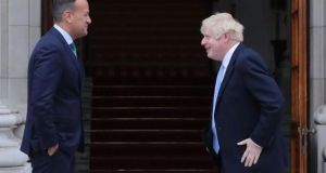 The Taoiseach Leo Varadkar and British Prime Minister Boris Johnson   spoke for   40 minutes by telephone on Tuesday afternoon. File photograph: Niall Carson/PA Wire