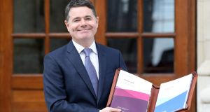 Minister for Finance Paschal Donohoe: faced challenges to present a prudent, green and Brexit-proofed budget. Photograph: Paul Faith/AFP/Getty Images