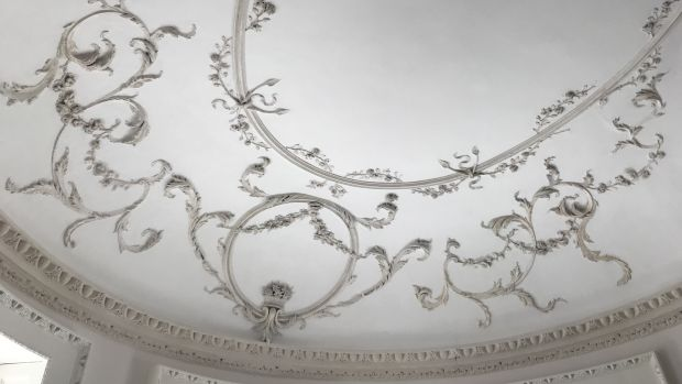 The ceiling of 3 Henrietta Street, Dublin 1