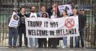 Members of Stop Trump Ireland stage a protest in Dublin against US president Donald Trump's visit to Ireland last June. Photograph: Dara Mac Dónaill / The Irish TimesPhotograph: Dara Mac Donaill / The Irish Times