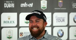 Shane Lowry of Ireland pictured during a press conference ahead of the Italian Open at Olgiata Golf Club  in Rome, Italy. Photograph:  Matthew Lewis/Getty Images