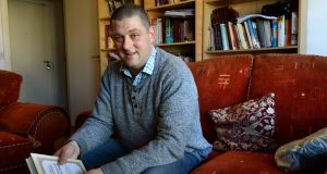 Vincent Geoghegan in his apartment home in Ballymun, Dublin, provided for him by the Housing Association for Independent Living. Photograph: Dara Mac Dónaill/The Irish Times