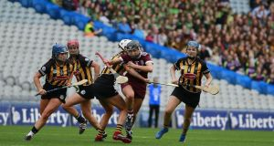 Galway's Niamh Kilkenny in action against Kilkenny in the Camogie All-Ireland final. Photograph: Nick Bradshaw