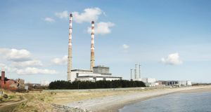 Poolbeg power station. The ESB is seeking planning permission to build a new 75 megawatt plant at the Ringsend site. Photograph: David Dear/Construction Photography/Avalon/Getty Images