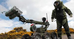 Five pipe bombs were defused by army bomb disposal experts in Edenderry, Co Offaly. File photograph