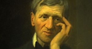 Cardinal John Henry Newman 'ministered patiently to the poor immigrant Irish in his care in Birmingham'. Photograph: AP/Catholic Church