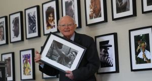 Former Irish Press photographer Colman Doyle ahead of his exhibition 'A Lifetime of Images' at Valleymount Hall, Co Wicklow, which opens tomorrow. Photograph: Nick Bradshaw