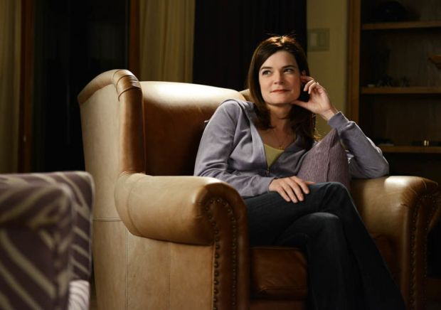El Camino: Betsy Brandt as Marie Schrader, widow and wearer of purple, in Breaking Bad. Photograph: Ursula Coyote/AMC/Netflix
