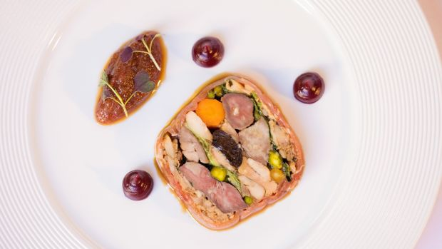 Game terrine at the Shelbourne hotel
