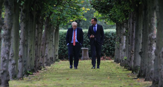 British prime Minister Boris Johnson and Taoiseach Leo Varadkar: From the optimism of both after meeting, it seems Brexit has reached a turning point. Photograph: Noel Mullen/ Irish Government Press Office