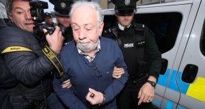 John Downey arriving at Omagh Magistrates' Court in Omagh on Saturday. Photograph :  Niall  Carson/PA Wire
