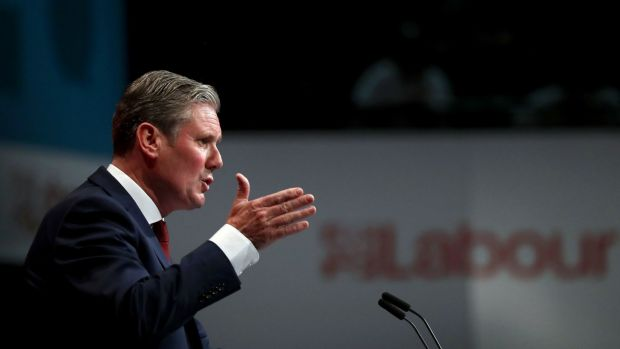 Sir Keir Starmer says Labour is prepared to take action through the courts . Photograph: Gareth Fuller/PA