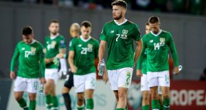 Ireland's Matt Doherty leaves the pitch after the 0-0 draw with Georgia during Euro 2020 qualification. Photo: Tommy Dickson/Inpho