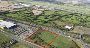 The site is located 700m from junction 4 of the M50 beside  IKEA's flagship store in Ballymun.