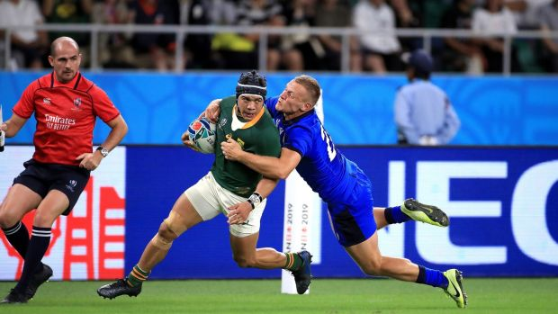 Rugby Cheslin Kolbe's Springboks will meet Japan in the last-eight. Photograph: Adam Davy/PA