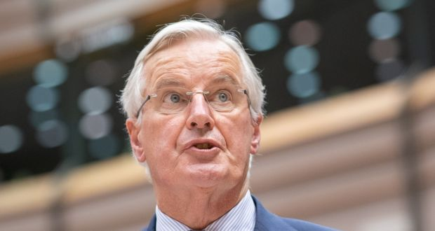 EU-27 ambassadors were  briefed by EU chief negotiator Michel Barnier on the talks that have continued over the weekend in a restricted secret session. Photograph: Jasper Juinen/Bloomberg