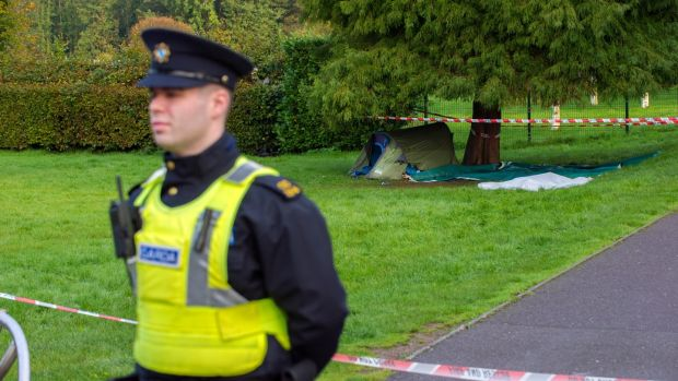 The scene of a serious assault of a homeless man at the Mardyke in Cork city. The assault took place by the man's tent, which was then set alight. Photograph: Daragh Mc Sweeney/Provision