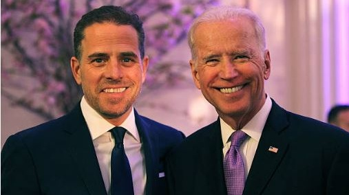 Hunter Biden pictured with his father, Democratic US presidential hopeful in 2020, Joe Biden. File photograph: Getty