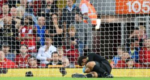 Liverpool have been without Alisson Becker  since the opening game of the season. Photograph:  Michael Regan/Getty Images