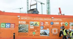 A file photograph of the site of the national children's hospital at the St James's Hospital campus in Dublin. Photograph: Dara Mac Donaill
