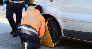 Some 130 motorists are clamped every day in Dublin. Photograph: Alan Betson/The Irish Times