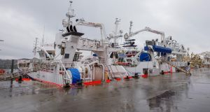 Fishing vessels tied up in Killybegs, Co Donegal.  Photograph:  Brian Farrell/Irish Times