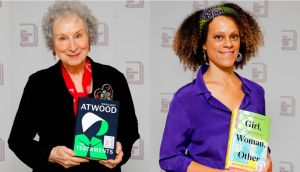 Margaret Attwood and Bernardine Evaristo, joint winners of the 2019 Booker Prize. Photographs: Getty Images