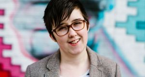 Journalist Lyra McKee  was shot dead in Derry in April while observing a riot Photograph: Jess Lowe/EPA