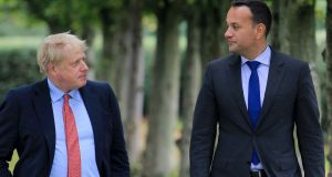 Taoisech Leo Varadkar says he will raise the Emma DeSouza case with Boris Johnson . File photogrph: Noel Mullen AFP via Getty Images)