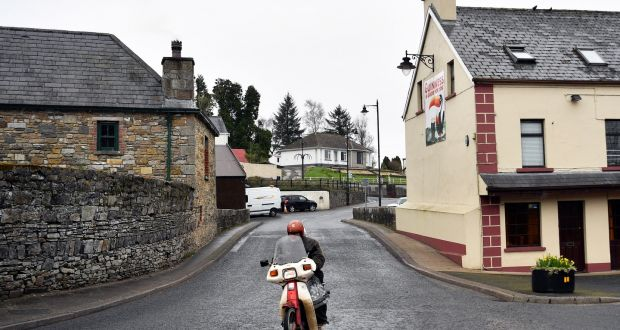 A motorcyclist in Pettigo, Co Donegal. For urban dwellers accustomed to a Dublin Bus/Luas/Dart stop down the street, it must be hard to understand the head-melting time, effort and frustration involved in relying on rural public transport. Photograph: Neil Hall/EPA