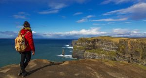 Reopened in 2013, the Cliffs of Moher coastal path is undoubtedly Ireland's busiest low-level route.