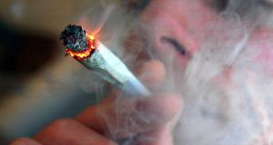 A new report notes a surge in cannabis-related admissions to general and psychiatric hospitals  from 2008 to 2016. File photograph: David Bebber/Reuters