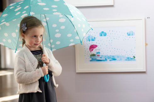 LIFE IMITATING ART: Fiadh O'Connor from Salthill at the opening of the 23rd Baboró International Arts Festival for Children. Photograph: Andrew Downes, xposure