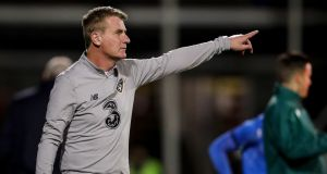 Stephen Kenny's side were beaten in Iceland. Photograph: Oisin Keniry/Inpho