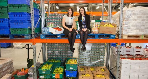 FoodCloud co-founders Iseult Ward (left) and Aoibheann O'Brien at the FoodCloud Hub in Tallaght, Dublin 24. File photograph