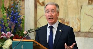 US Congressman Richard Neal speaks during a meeting with Tánaiste Simon Coveney in Dublin on April 16th, 2019. Photograph: Clodagh Kilcoyne/Reuters.
